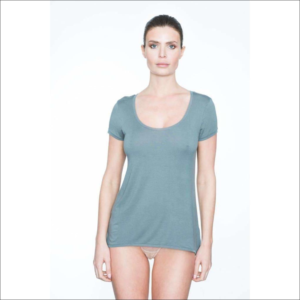 Addiction Douceur Tee Shirt - Grey / Xs - Top Lingerie Theory Lingerietheory.com