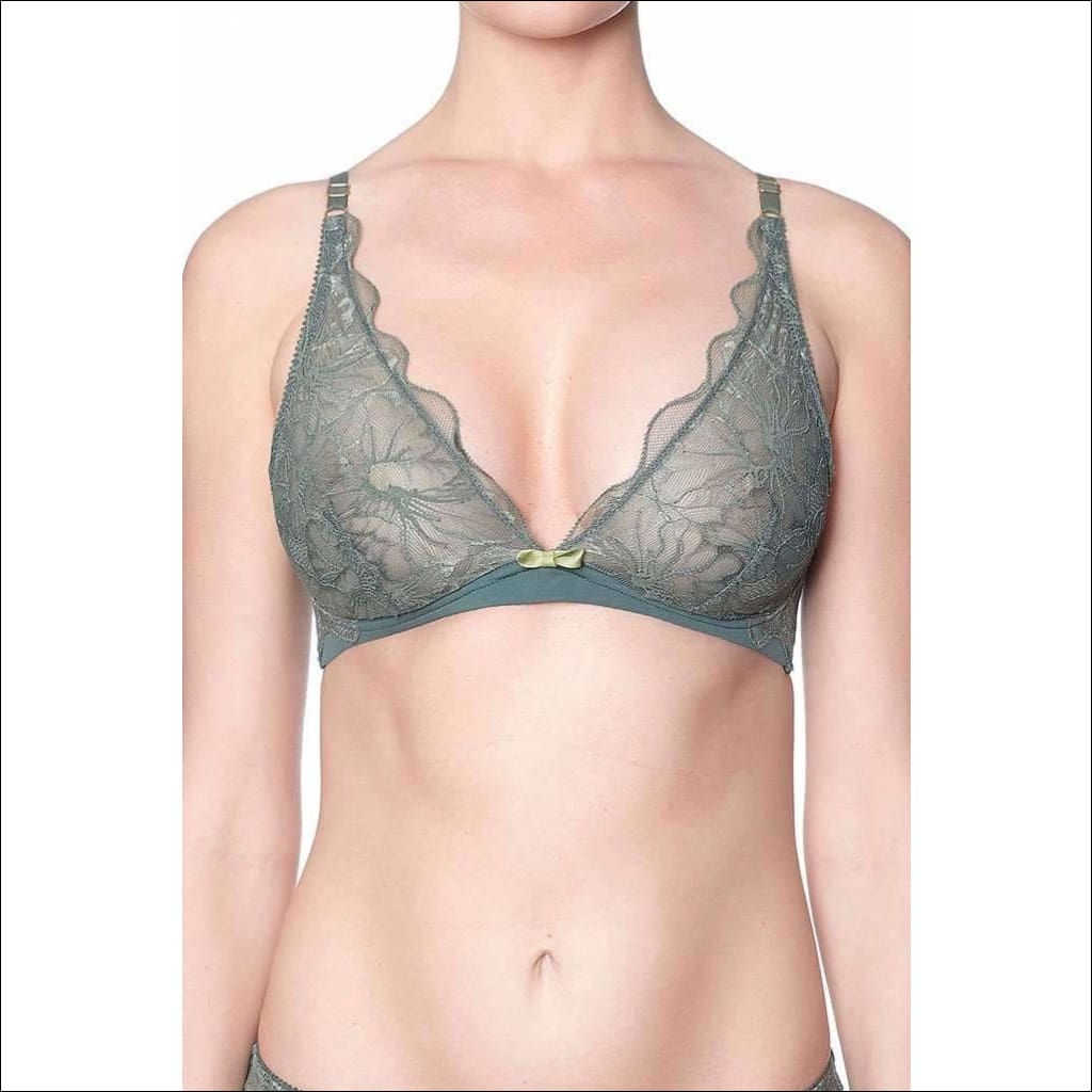 Addiction Lingerie Fashion Collection Sugar Daddy Triangle Bra - Green / Xs - Bra Lingerie Theory Lingerietheory.com