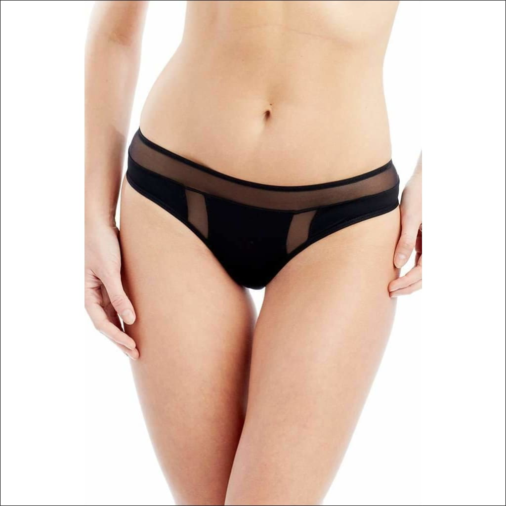 Addiction Nouvelle Lingerie - Basic Collection - Tanga - Black / Xs - Panty Lingerie Theory Lingerietheory.com