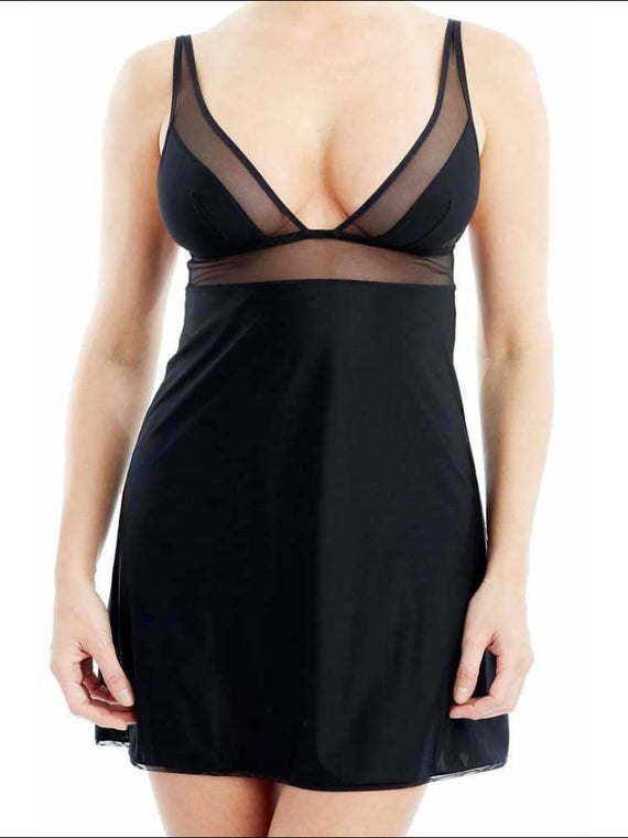 Addiction Nouvelle Lingerie - Basic Collection - Triangular Babydoll - Black / Xs - One Piece Lingerie Theory Lingerietheory.com