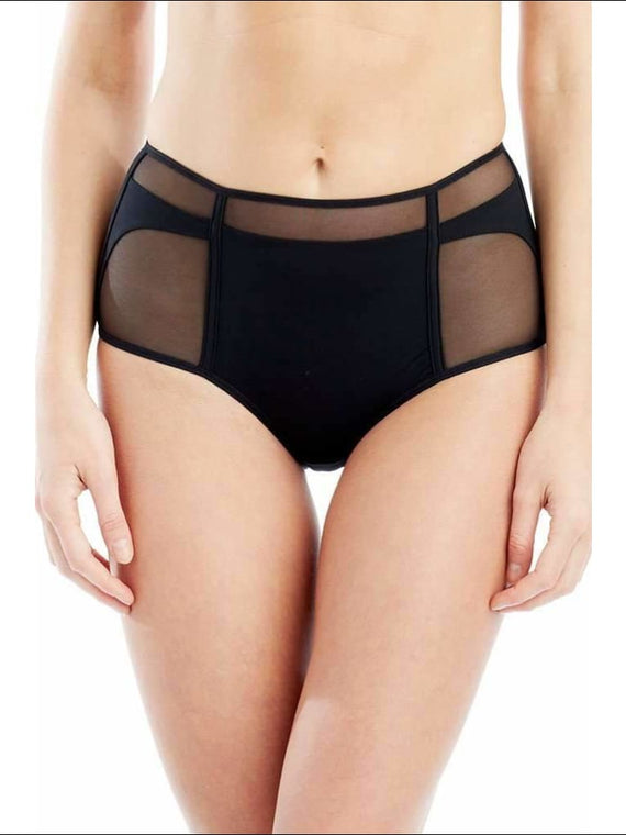 Addiction Nouvelle Lingerie Collection Basic High Waisted Panty - Black / Xs - Panty Lingerie Theory Lingerietheory.com