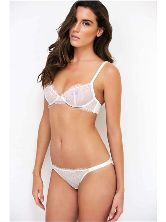 Adorn Les Dessous - Scalloped Lace Wire Bra - Ivory / 30B - Bra Lingerie Theory Lingerietheory.com