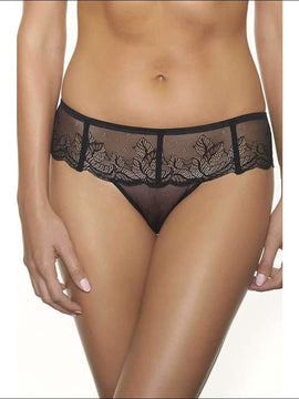 Collection After Dark Tanga - Black / S - Bottom Lingerie Theory Lingerietheory.com