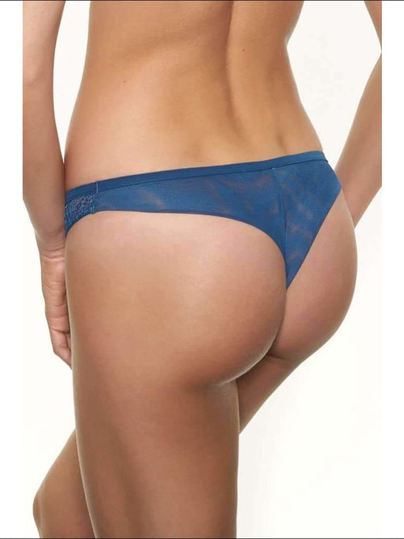 Collection Blue Lagoon Thong - Bottom Lingerie Theory Lingerietheory.com