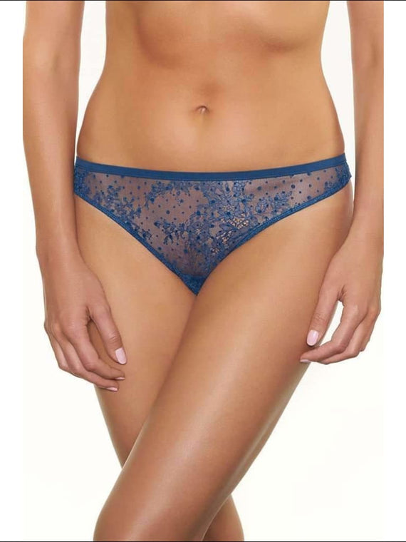 Collection Blue Lagoon Thong - Blue / S - Bottom Lingerie Theory Lingerietheory.com