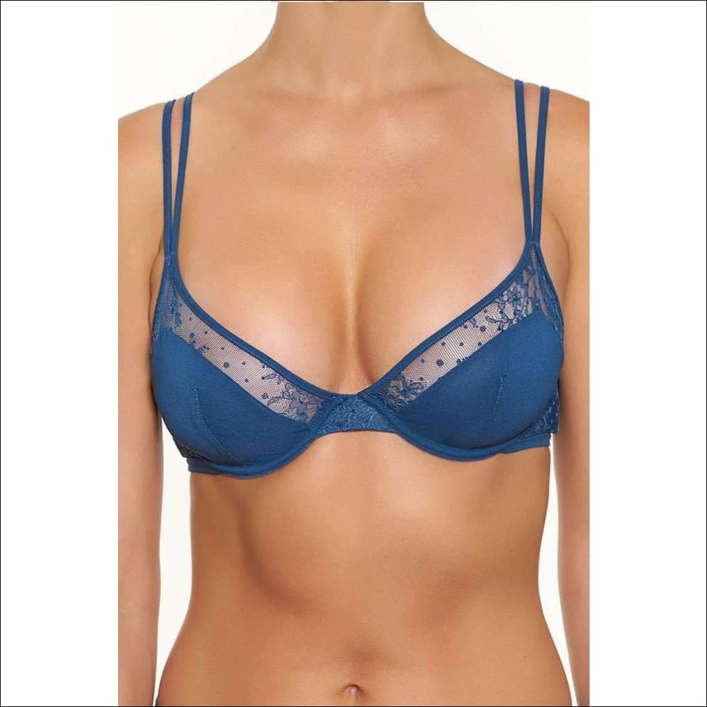 Collection Blue Lagoon Underwire Bra - Blue / 23B - Bottom Lingerie Theory Lingerietheory.com