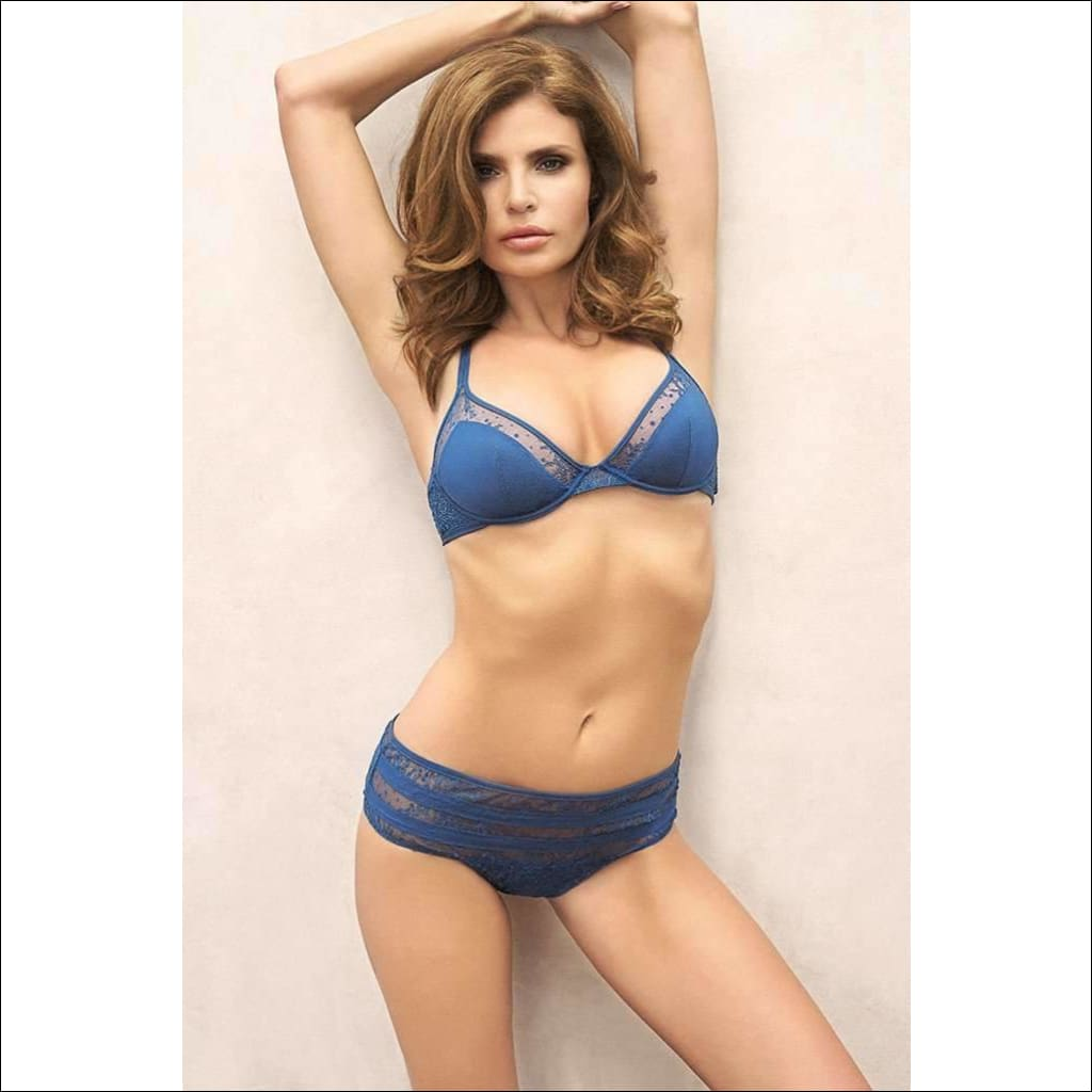 Collection Blue Lagoon Underwire Bra - Bottom Lingerie Theory Lingerietheory.com