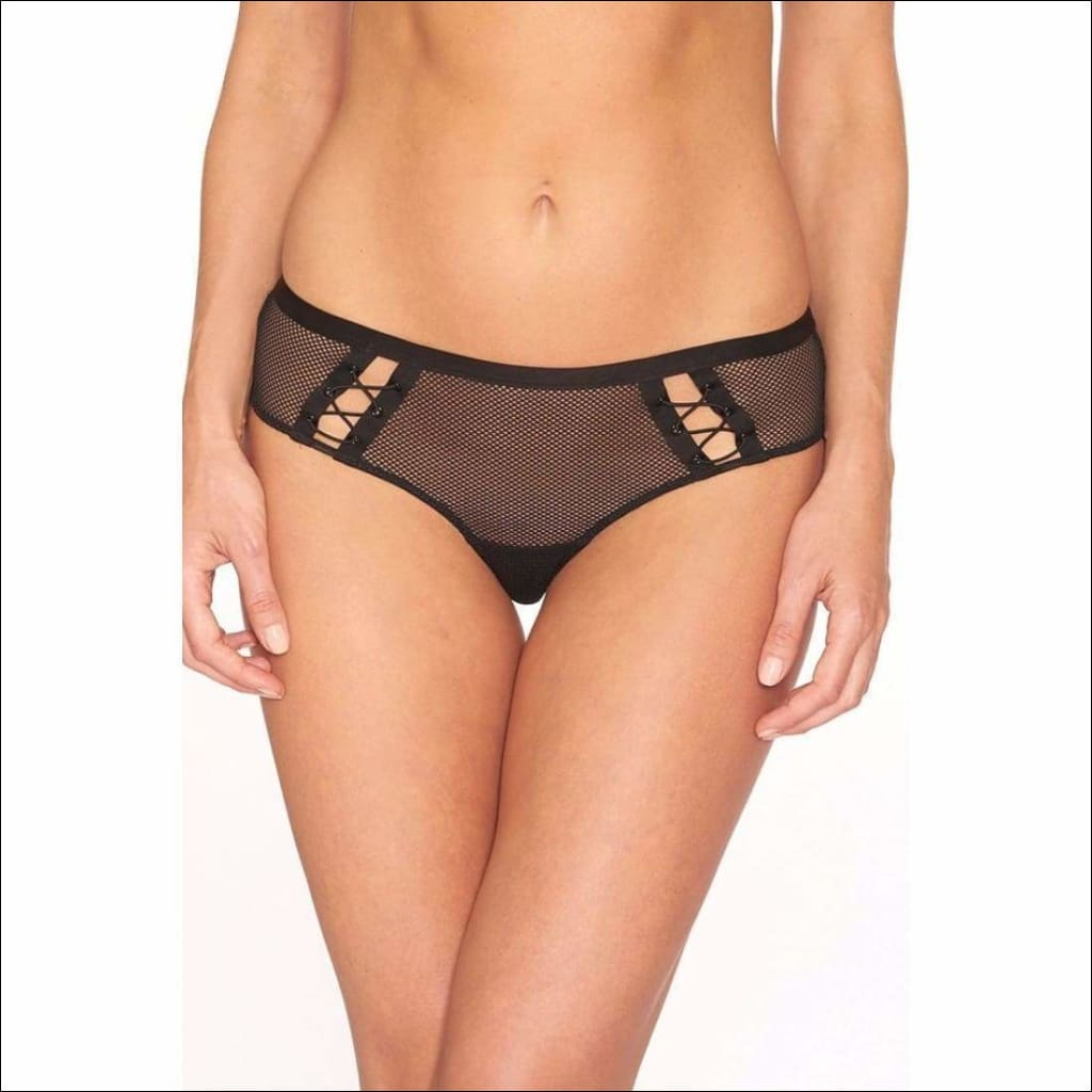 Collection Bottle Caps Tanga - Black / S - Bottom Lingerie Theory Lingerietheory.com