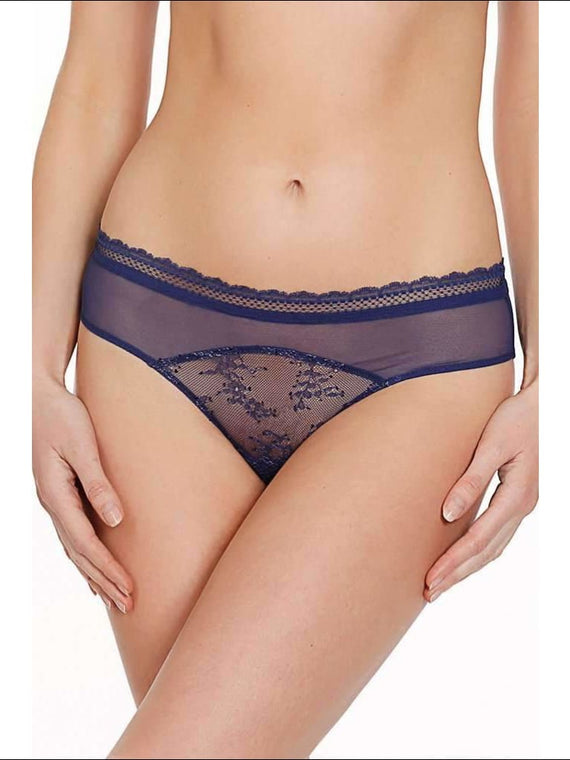 Collection Burlesque Bikini - Blue / S - Bottom Lingerie Theory Lingerietheory.com