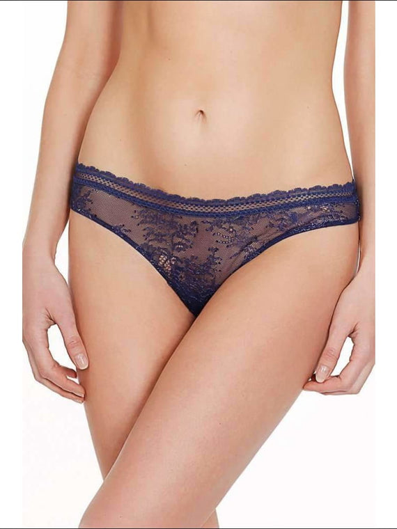 Collection Burlesque Thong - Blue / Xs - Bottom Lingerie Theory Lingerietheory.com