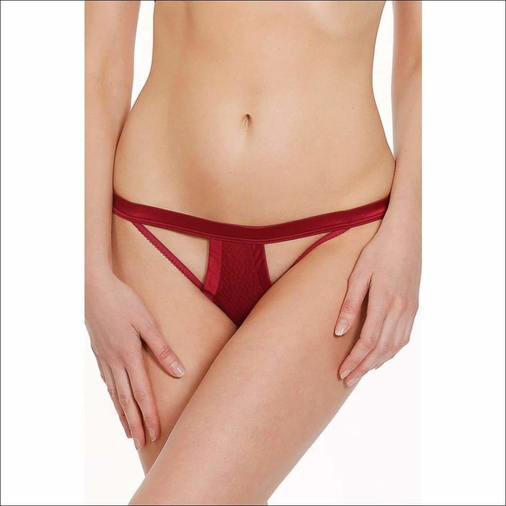Collection Cabaret Thong - Red / S - Bottom Lingerie Theory Lingerietheory.com