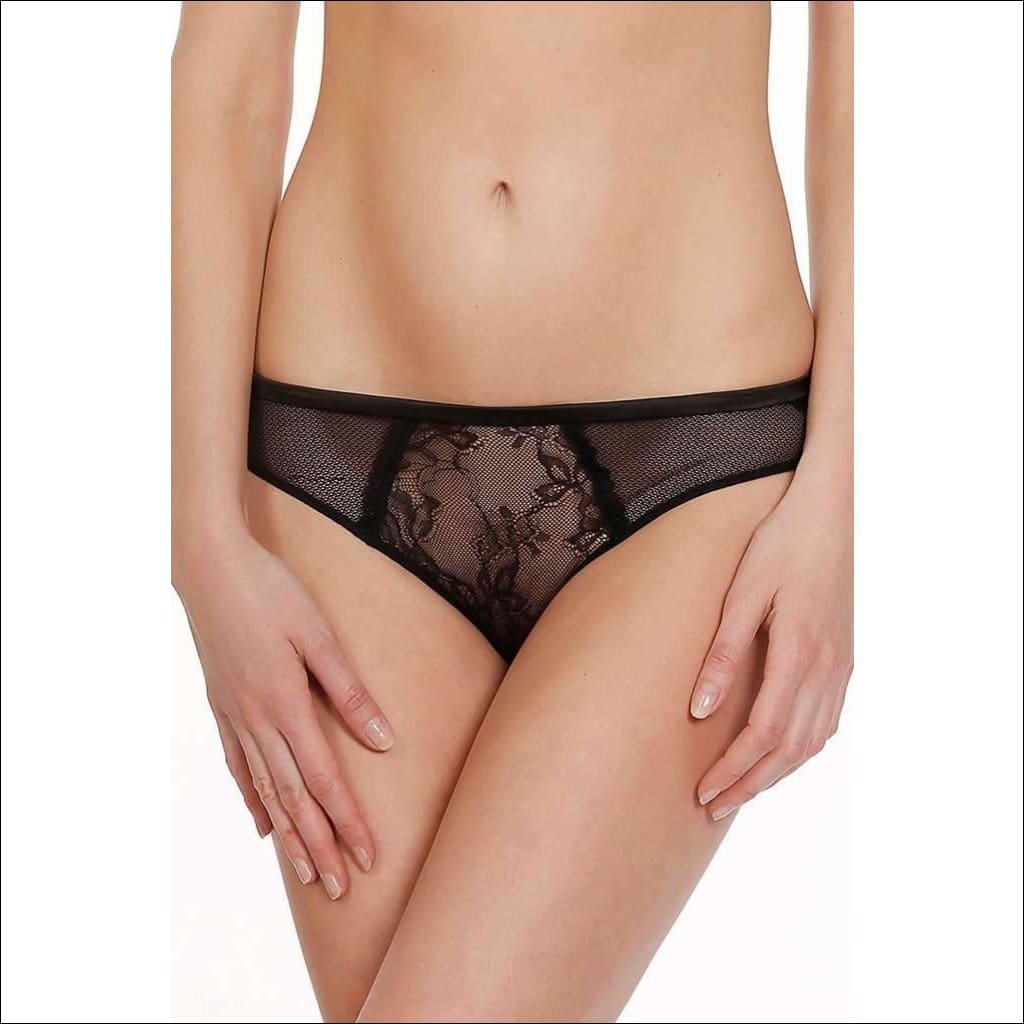 Collection Captive Bikini - Black / S - Bottom Lingerie Theory Lingerietheory.com