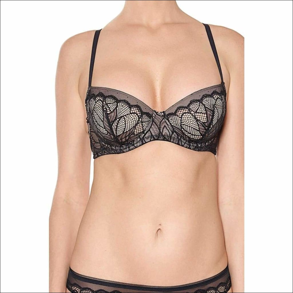 Collection Dinner At 8 - Padded Bra - Black / 32B - Bra Lingerie Theory Lingerietheory.com