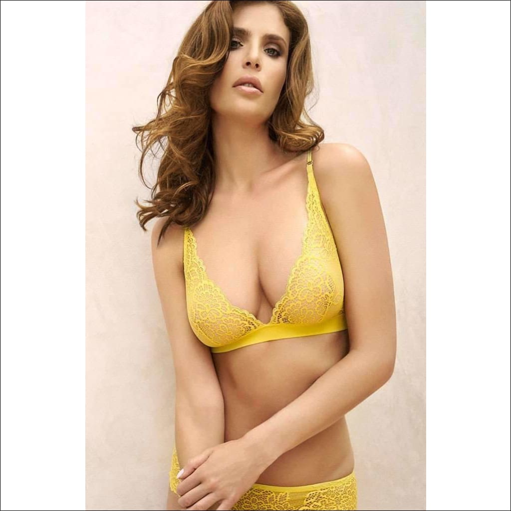 Collection Lemon Drop Triangle Bra - Bra Lingerie Theory Lingerietheory.com