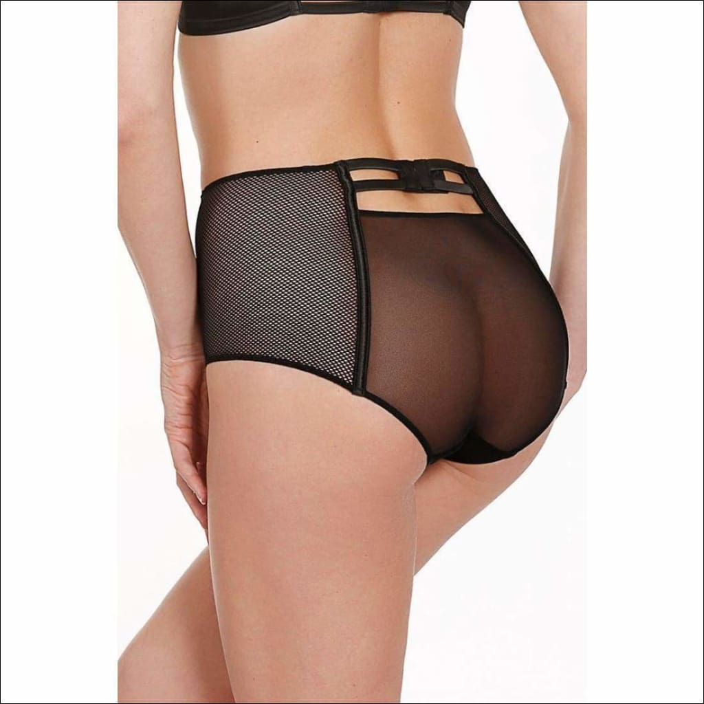 Collection Libertine Highwaist Panty - Black / S - Bottom Lingerie Theory Lingerietheory.com