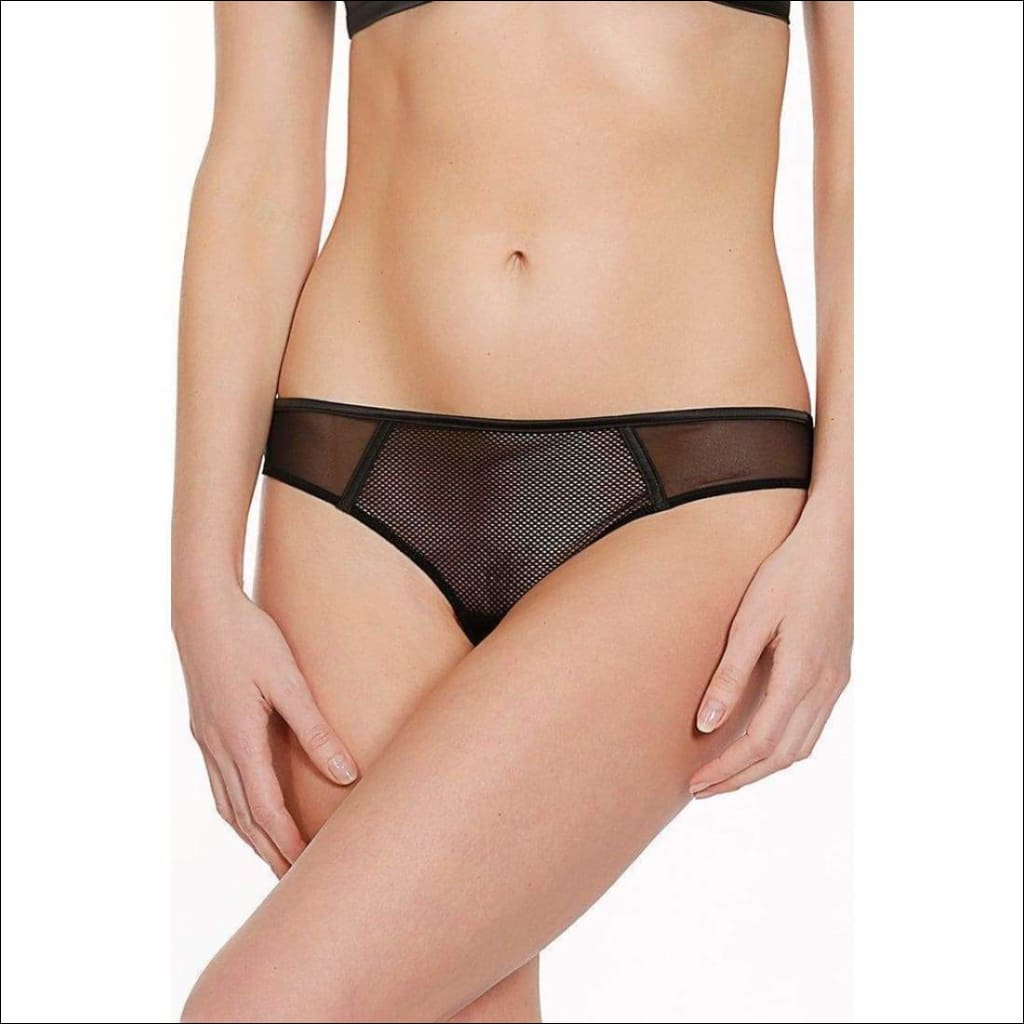 Collection Libertine Tanga - Black / S - Bottom Lingerie Theory Lingerietheory.com