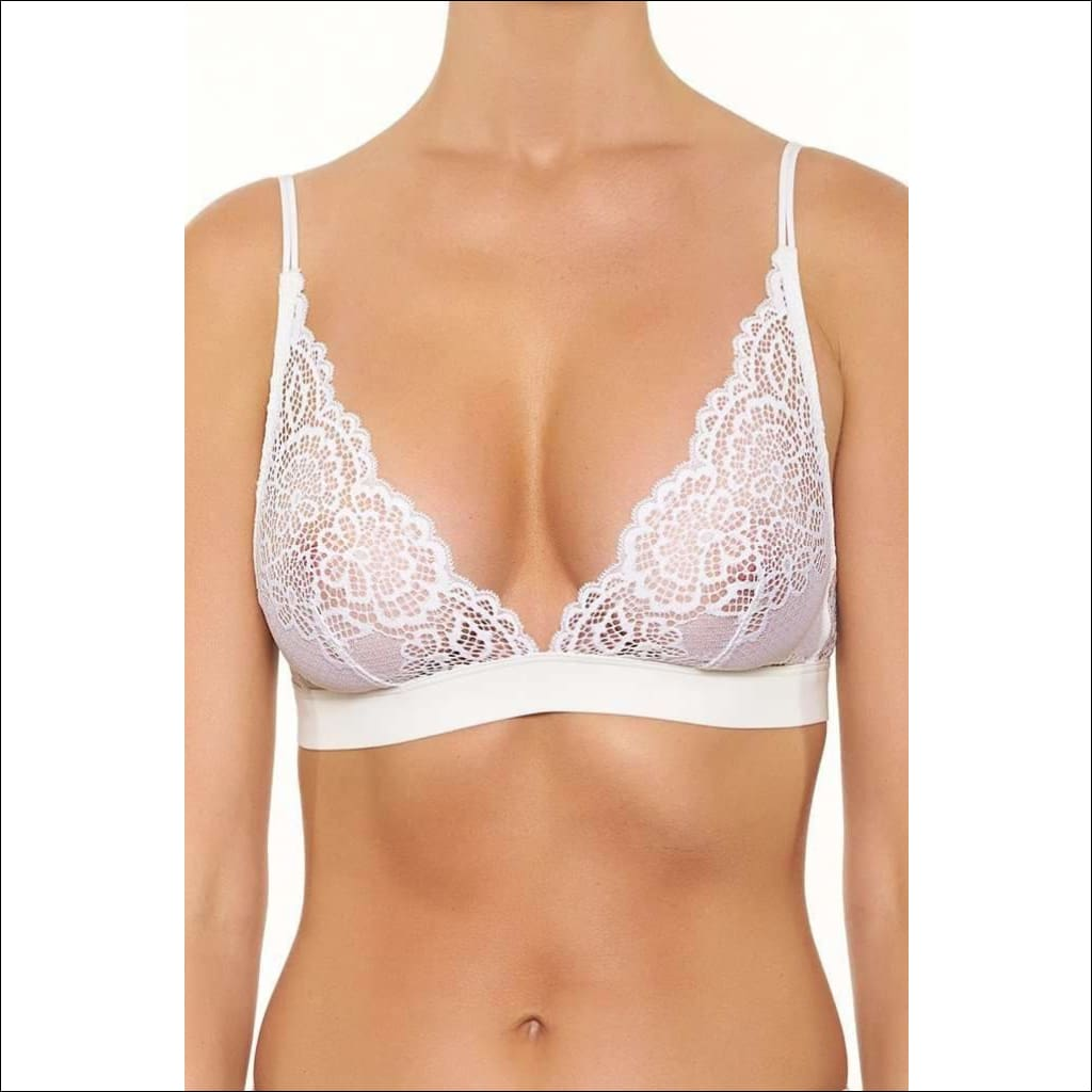 Collection Martini Triangular Bra - White / Xs - Bra Lingerie Theory Lingerietheory.com