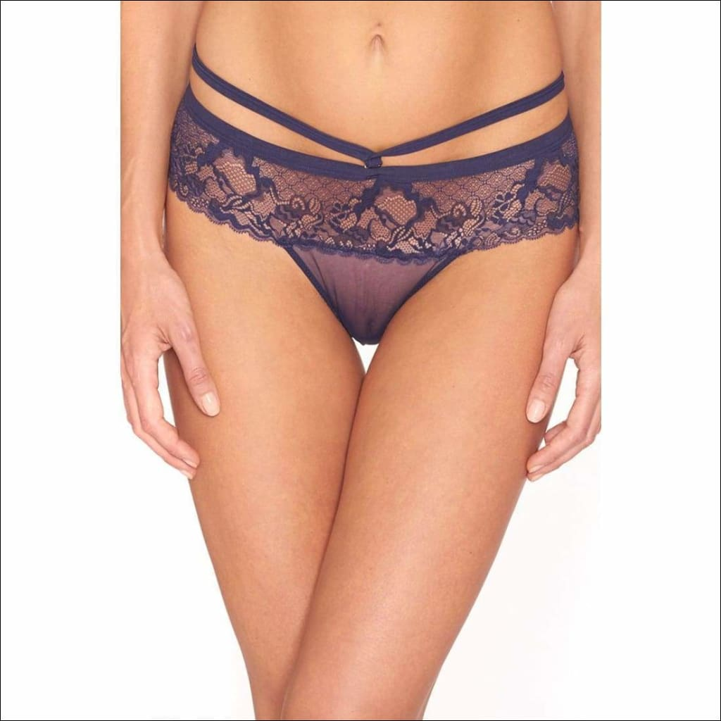 Collection Rocky Candy Tanga - Navy / Xs - Bottom Lingerie Theory Lingerietheory.com