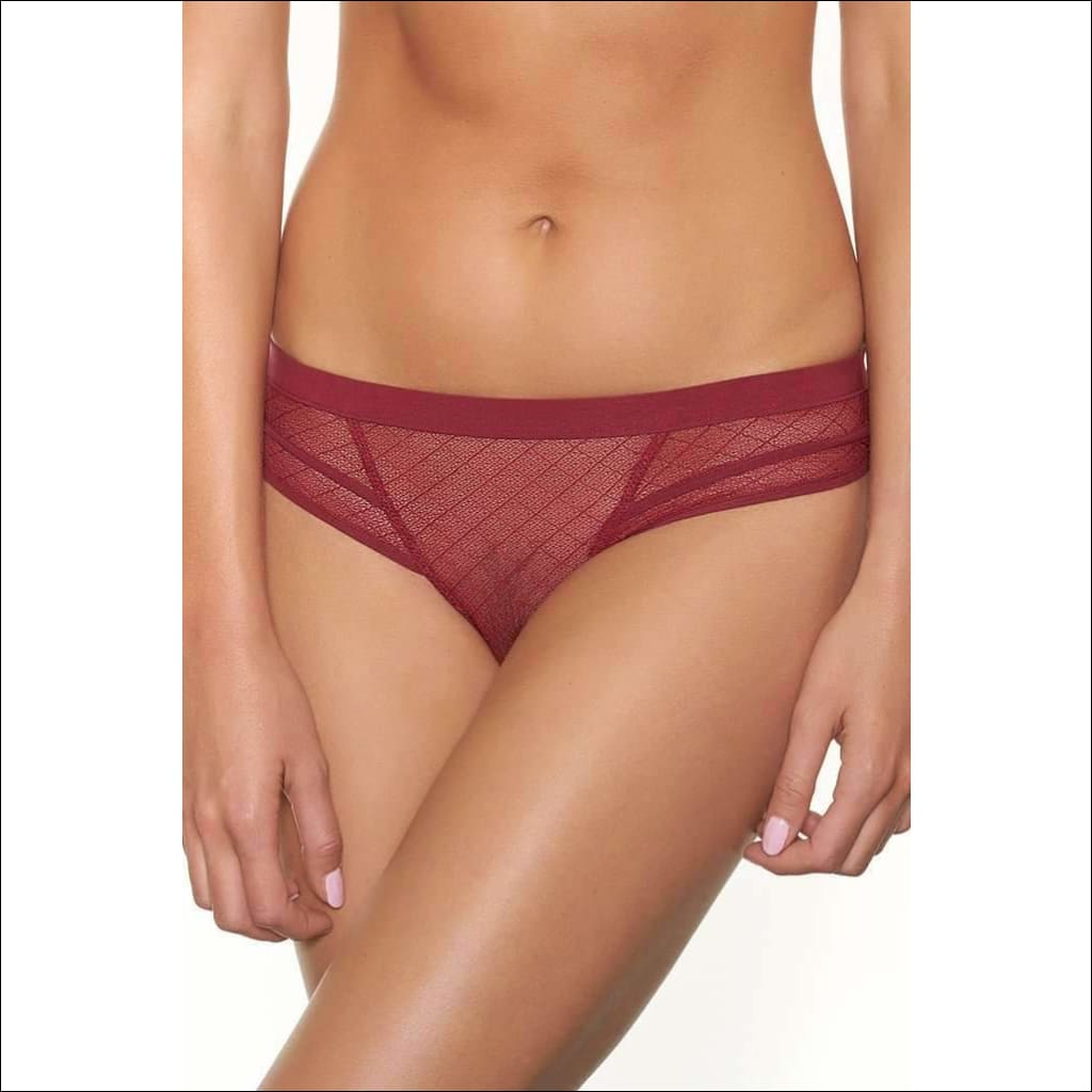 Collection Sangria Tanga - Burgundy / Xs - Bottom Lingerie Theory Lingerietheory.com