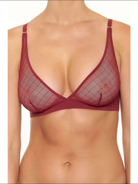 Collection Sangria Triangular Bra - Burgundy / Xs - Bra Lingerie Theory Lingerietheory.com