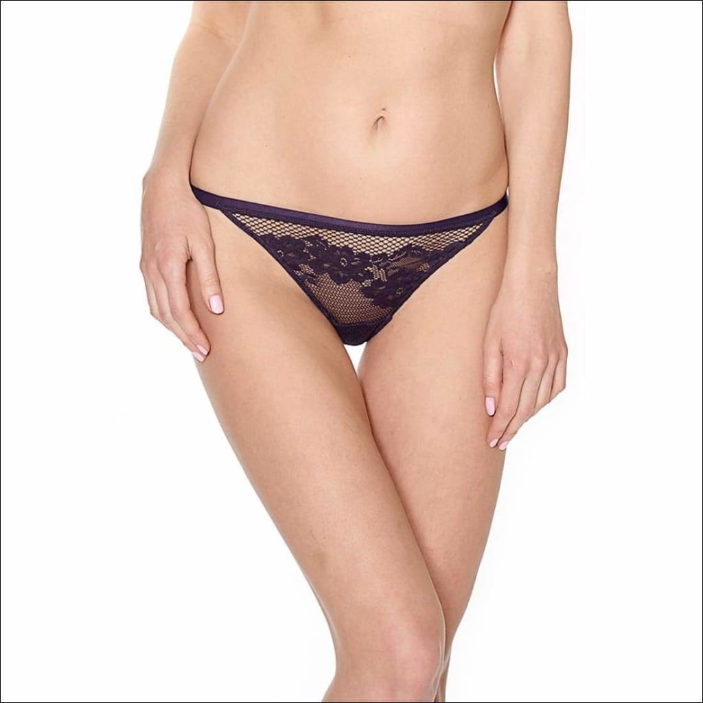 Collection Swing Time - Thong - Aubergine / Xs - Bottom Lingerie Theory Lingerietheory.com