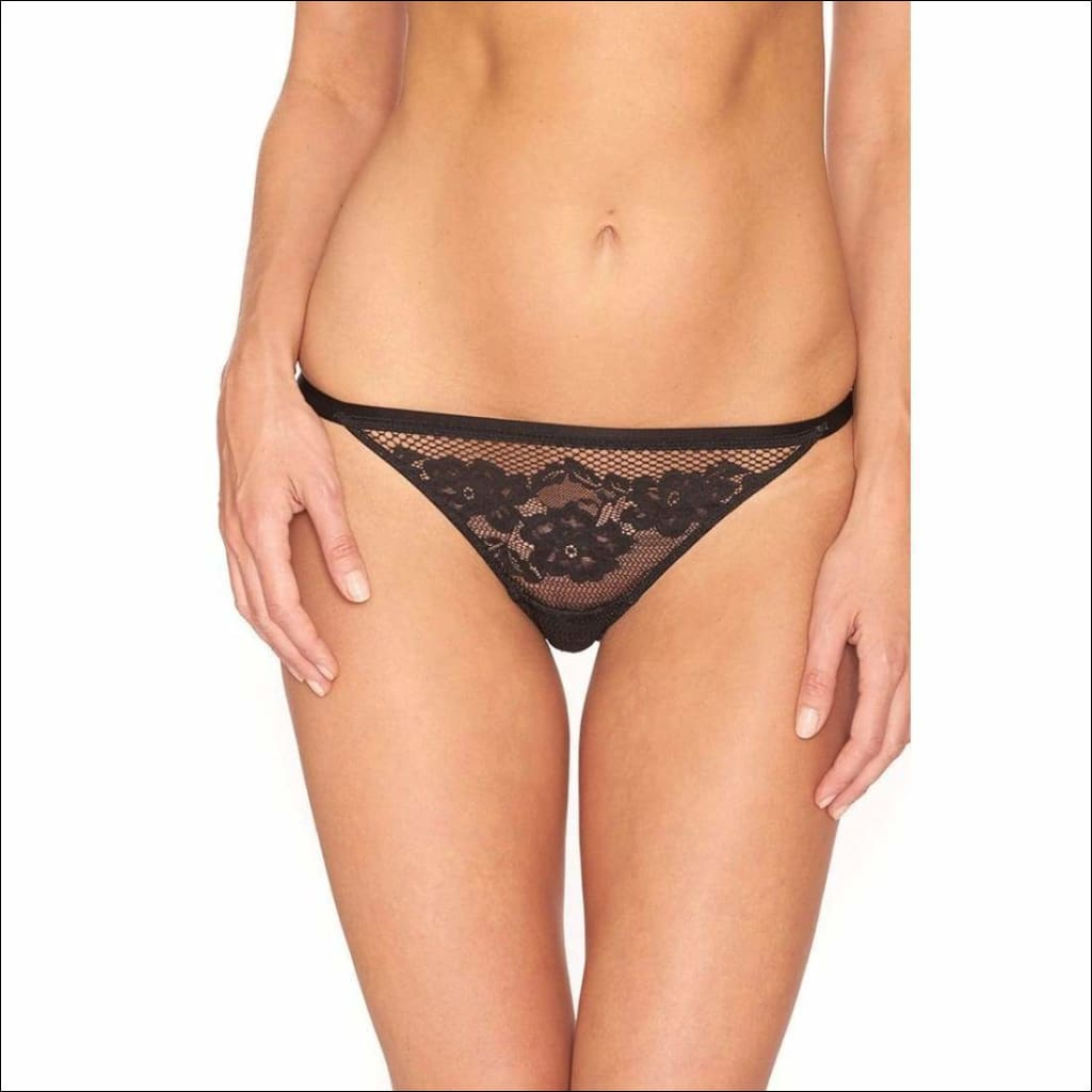 Collection Tootsie Roll Thong - Black / Xs - Bottom Lingerie Theory Lingerietheory.com