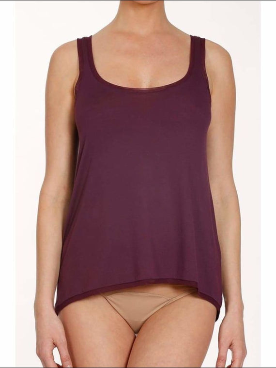Douceur Collection Trapeze Top - Burgundy / Xs - Top Lingerie Theory Lingerietheory.com