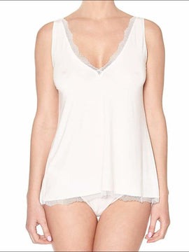 Douceur Dream Tank Top - Ivory / Xs - Top Lingerie Theory Lingerietheory.com