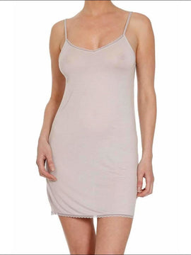 Douceur Lace Collection Camisole Dress - Pearl Grey / S - Babydoll Lingerie Theory Lingerietheory.com