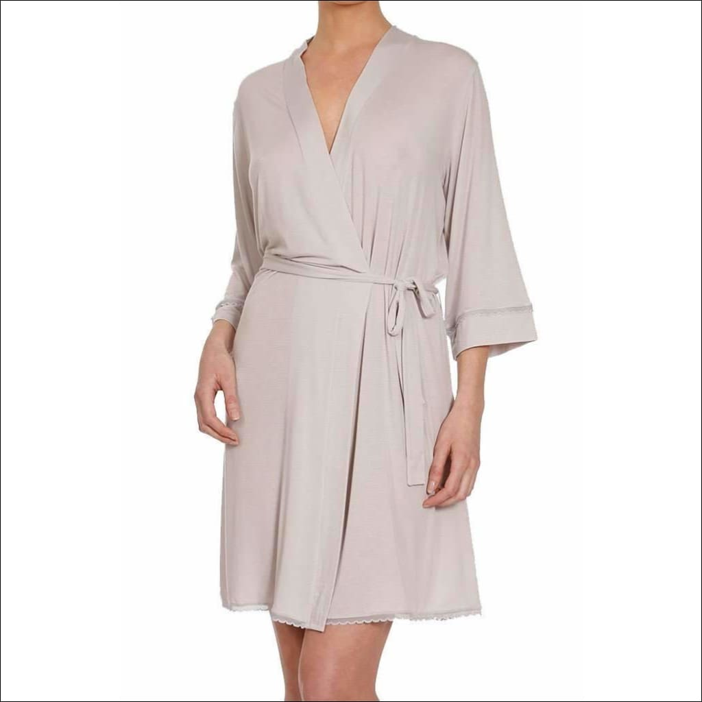 Douceur Lace Collection Robe - Pearl Grey / S - Robes Lingerie Theory Lingerietheory.com