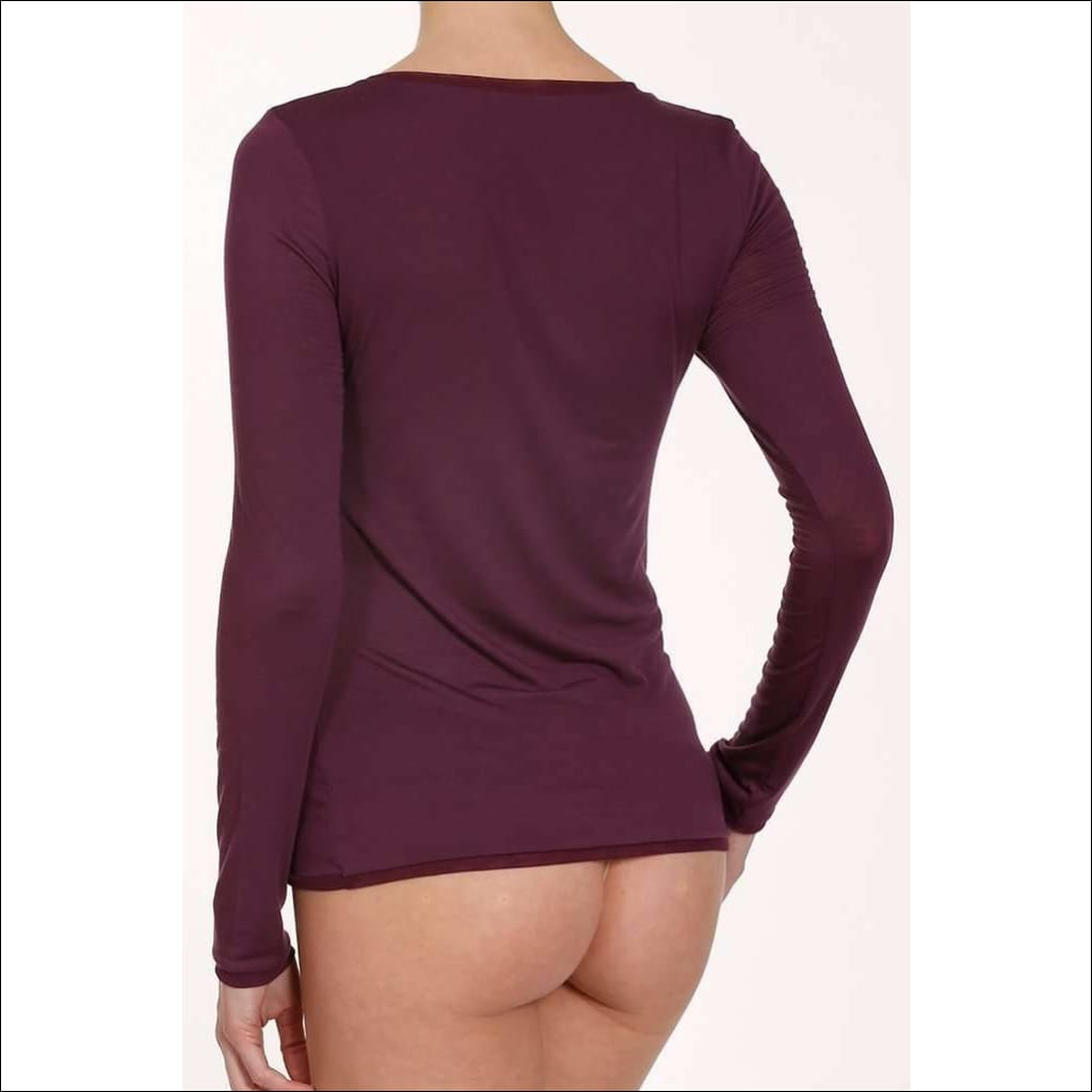 Plum Collection Long Sleeve Top - Top Lingerie Theory Lingerietheory.com