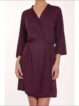 Plum Collection Robe - Plum / Xs - Robe Lingerie Theory Lingerietheory.com