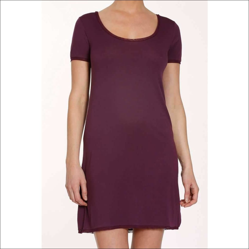 Plum Collection T-Shirt Dress - Plum / Xs - Dress Lingerie Theory Lingerietheory.com