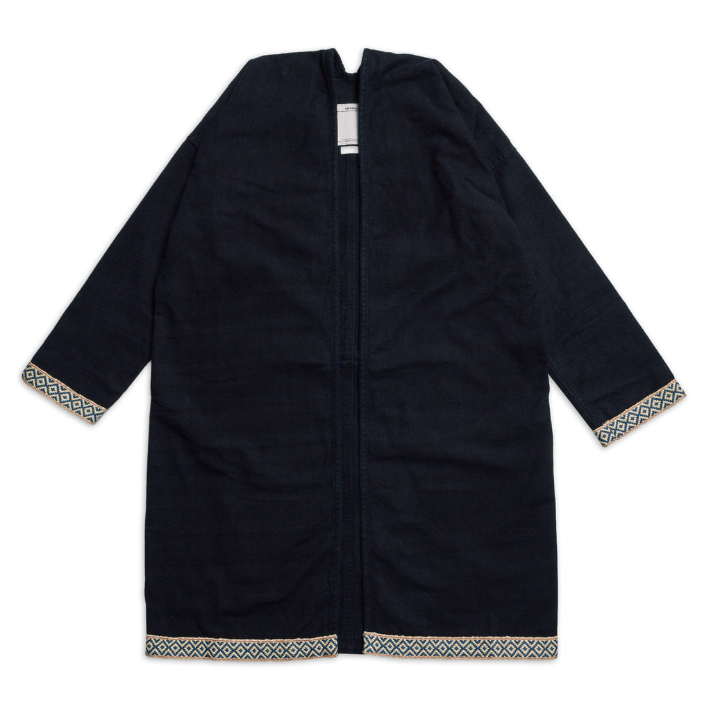VISVIM SANJURO COAT SILK ROAD DARK INDIGO