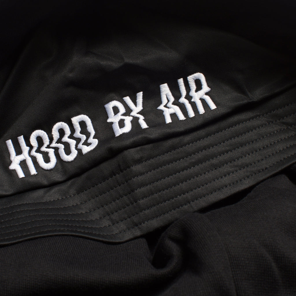 HOOD BY AIR TWEEK BUCKET HOODIE BLACK