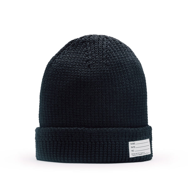 Visvim Knit Cotton Beanie Black