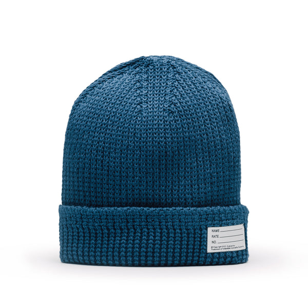 Visvim Knit Cotton Beanie Blue