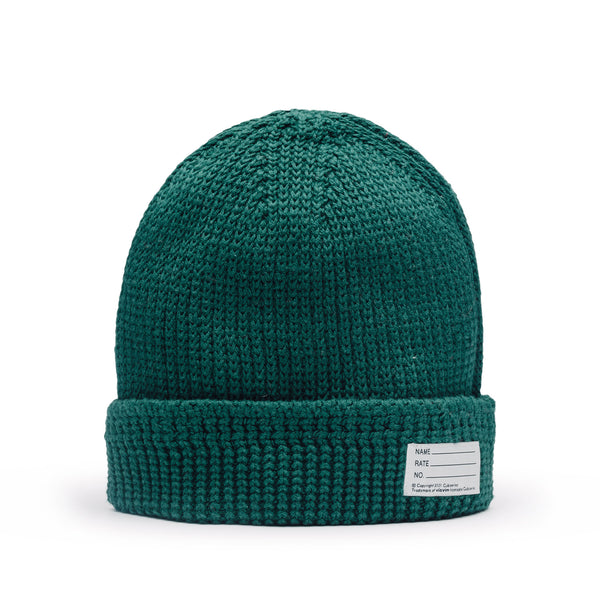 Visvim Knit Cotton Beanie Green