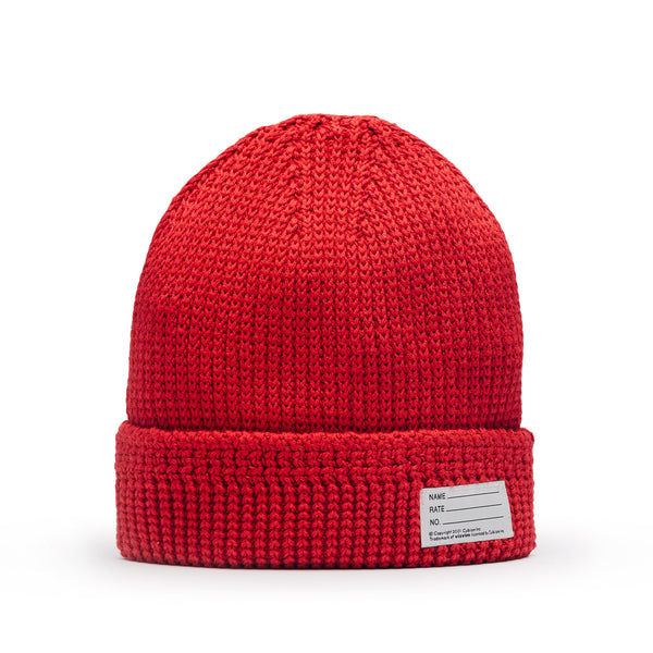 Visvim Knit Cotton Beanie Red