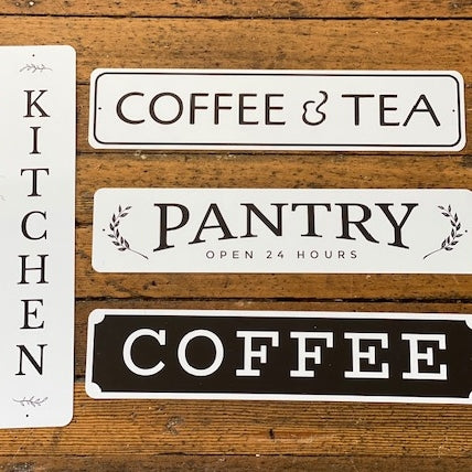 Metal Kitchen Signs