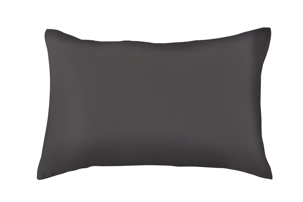 CHARCOAL 100% PURE MULBERRY SILK ENVELOPE STYLE PILLOWCASE