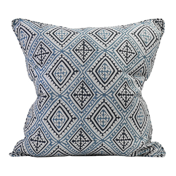 HAVANA CHINA BLUE LINEN CUSHION