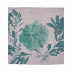 NAPKINS BANKSIA WREATH EUCALYPTUS GREEN