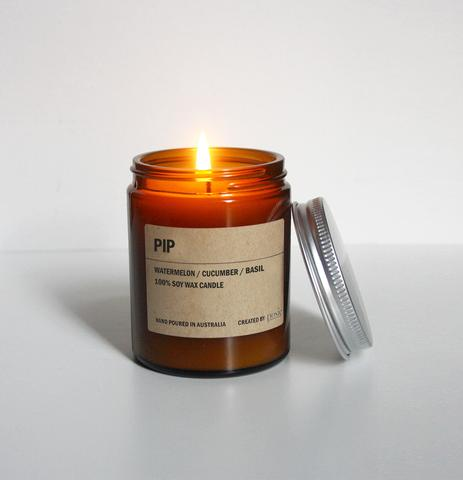 PIP AMBER SOY CANDLE