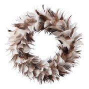 NATURAL FEATHER WREATH