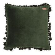 KOMBU GREEN VELVET TASSEL CUSHION COVER