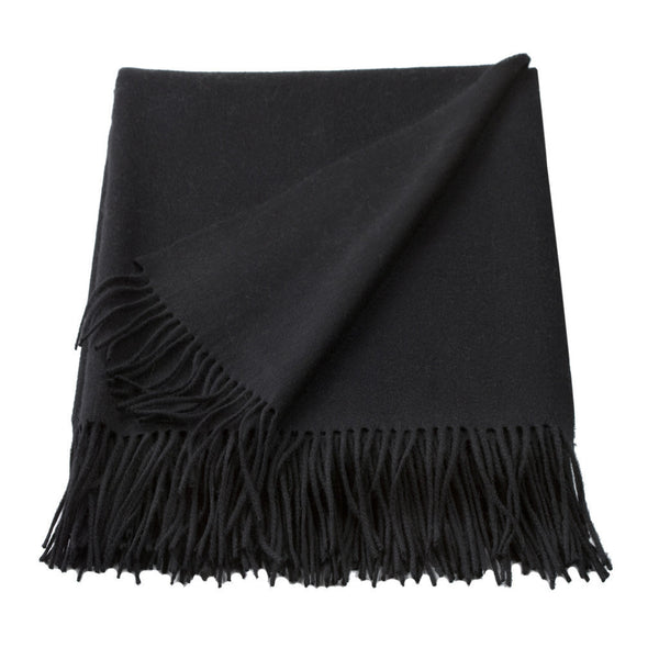 MIX BLACK CASHMERE /WOOL THROW