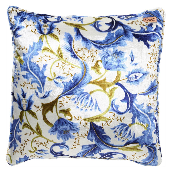 SPRING IN ITALY PRINTED VELVET CUSHION