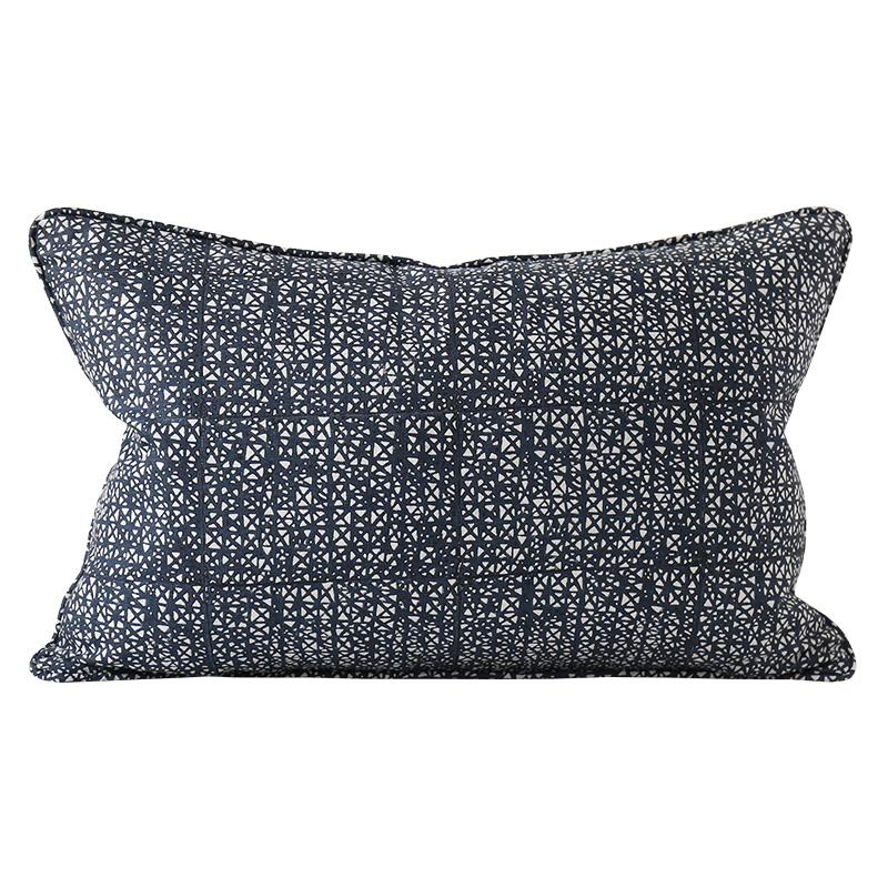 SEVILLE INDIAN TEAL LINEN CUSHION