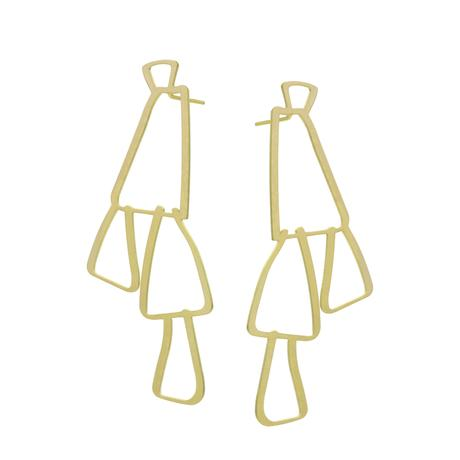 EARRING SWING-STAINLESS STEEL 22 CT GOLD PLATE